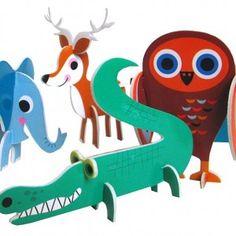 Animal Parade Puzzle by Swedish Illustrator Ingela P. Arrhenius