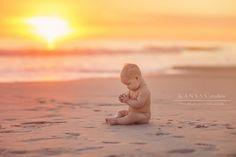 Baby Poppy   6 Month Baby Beach Session   kansas studios   kansas pitts photography