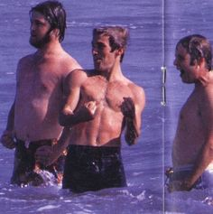 Brian, Dennis and Carl at the beach Carl Wilson, Dennis Wilson, Wilson Brothers, America Band, Mike Love, Old Celebrities, 70s Tv Shows, The Beach Boys, Summer Boy