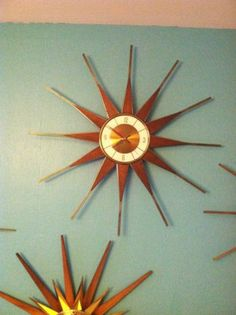 "Vintage Elgin Starburst Clock Nelson Eames Era Works 26"" @eBay #followitfindit"