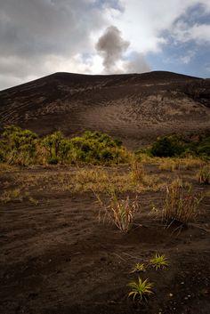 Mount Yasur, an active volcano on Tanna Island, Vanuatu.