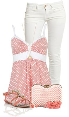 Pink Outfit set: looks like what I wore to movies yesterday. Fashion Moda, Look Fashion, Teen Fashion, Fashion Outfits, Womens Fashion, Woman Outfits, Spring Summer Fashion, Spring Outfits, Summer Outfit