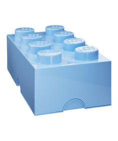 Love this Light Blue LEGO 2 x 4 Storage Brick by LEGO Storage on #zulily! #zulilyfinds