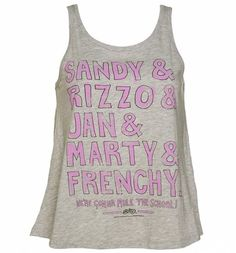 Ladies Grease Pink Ladies Line Up Swing Vest : Main