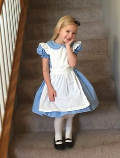 21 DIY Disney Costumes to Make Your Kid For Halloween This Year Alice Alice Costume ($70) How to DIY this: blue dress, white apron, white tights, black flats, black headband