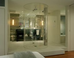 Showers without doors, also known as walk-in showers, have plenty of benefits. First, no glass door to keep clean! Shower glass is one of the most cleaning-intensive features of a bathroom because any soap scum or mineral deposit shows right away.
