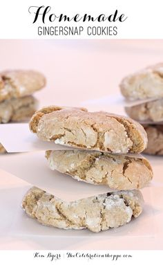 Homemade Gingersnap Cookies | Kim Byers, TheCelebrationShoppe.com