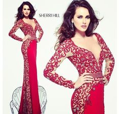 Sherri Hill Red Prom Dress 2008 | Sherri Hill Red Pageant Gown Sherri hill. red evening gown.