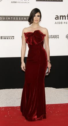 Memorable Style Moments From Cannes: Paz Vega looking luscious in red.