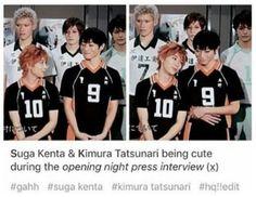 Just look at how oikawa look at them xD