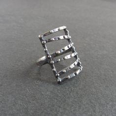 Dotted Line, Handmade Jewellery, Sale Items, Cuff Bracelets, Wax, Dots, Silver Rings, It Cast, Sterling Silver