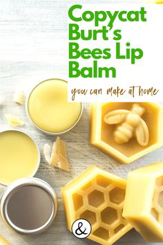 Here is how to make your own lip balm with this Copy Cat Burt's Bees recipe. Homemade Lip Balm, Diy Lip Balm, Homemade Skin Care, Homemade Beauty Products, Bee Products, Lip Balm Recipes, My Recipes, Burts Bees, Doterra