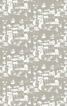 Janet Bell Mushroom Tea towel