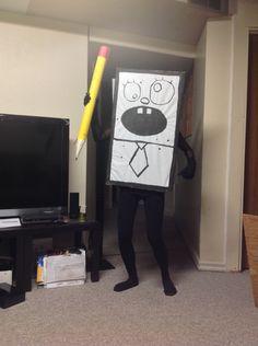 "Someone went as DoodleBob for Halloween. XD ""hei no mey noi"""