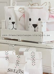 Fräulein Lampe (Diy Ideas For Kids) Wrapping Gift, Gift Wraping, Craft Gifts, Diy Gifts, Baby Birthday, Birthday Gifts, Polar Bear Party, Puppy Party, Gift Packaging