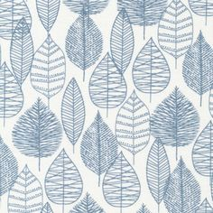 This listing is for a half yard of Line Leaf Blue, Bark & Branch Collection by Cloud 9 Organic Fabric. Half Yard 100% GOTS-Certified