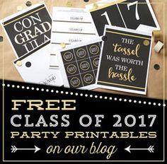 free class of 2017 graduation printables