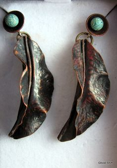 Folded Copper Earrings by Ghost Shift