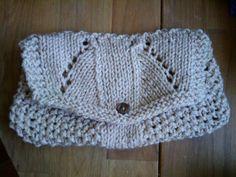 My small knitted make-up bag - KNITTING