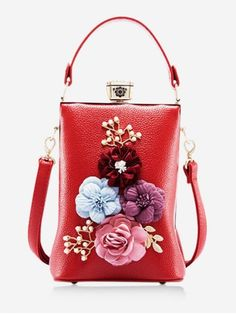 SheIn offers Floral Embellished Tote Bag & more to fit your fashionable needs. Red Fashion, Fashion Bags, Tote Bags Online, Black Cross Body Bag, Brown Bags, Spring Trends, Evening Bags, Shoulder Bag, Purses