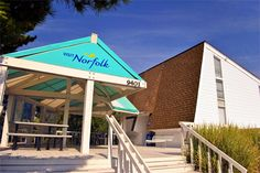The Norfolk Visitor Information Center is conveniently located off Interstate 64 at exit 273 just three miles from the Hampton Roads Bridge Tunnel. The unique design of the building resembles the sail of a boat as to rises some 25 feet above the wetlands of Willoughby.