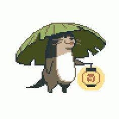 Otter w lamp Doodle Art, How To Pixel Art, Character Art, Character Design, Arte Indie, Pixel Characters, 8bit Art, Pixel Animation, Anime Pixel Art