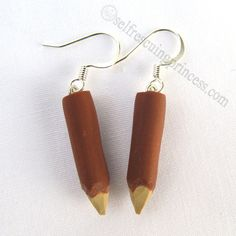 Vampire Slayer Stake Earrings by SelfRescuingPrincess on Etsy, $8.00