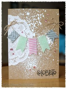 #papercraft #card Houses Built of Cards: Washi Banner Card