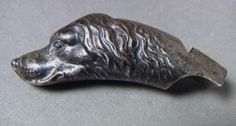 43:Figural Sterling Dog Whistle. Hunting Whistle in : Lot 43