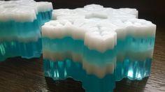 Christmas Gift Handmade glycerin Soap Snowflake SLS Free by MydlarniaAlSapone on Etsy