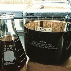 Home made 48 Hr Cold Brew  #pandco #pandcoffee #theconservatorycoffee #toddycoldbrew  #v60 #hario #chemex #aeropress #heartroasters #theconservatoryroaster #stumptowncoffeeroasters #intelligentsiacoffee #cogcoffee #endorffeine #fourbarrellcoffee #saintfrankcoffee #cortado  #pourover http://ift.tt/1Vbg53z