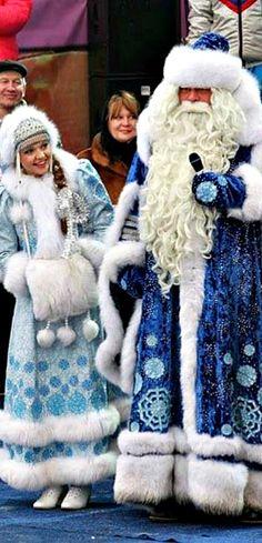 Russian Santa - Father Frost and his grand daughter Snegurochka