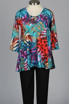 Nally & Millie - Island Tunic - Turquoise Red & Pink