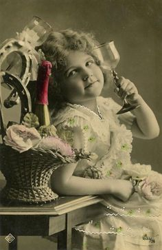 vintage New Year's postcard from France