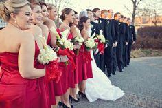 Red/Black winter wedding