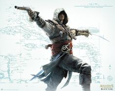 Poster affiche Assassin's Creed Black Flag Carte