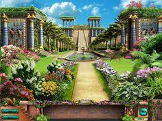 Pix For> Hanging Gardens Babylon -taustakuva
