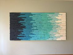 wall art - wood wall art - modern wall art - beach art - wall hangings - abstract art - painting on wood-wooden wall art Reclaimed Wood Wall Art, Wooden Wall Art, Diy Wall Art, Wall Art Decor, Wall Wood, Plage Art Mural, Art Plage, Art Rustique, Hanging Wall Art