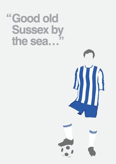 Brighton & Hove FC illustration commissioned by Cuckfield Candy Store & More, Brighton #bhafc
