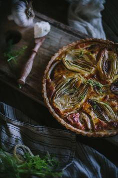 Caramelized Fennel and Goat's Cheese Tart by Eva Kosmas Flores