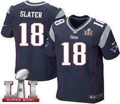 51d8a6eb5 Nike Patriots #18 Matt Slater Navy Blue Team Color Super Bowl LI 51 Men's  Stitched. Matthew SlaterNfl New England PatriotsJersey ...