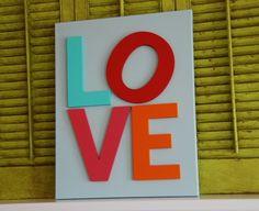 Canvas Art - wood letters
