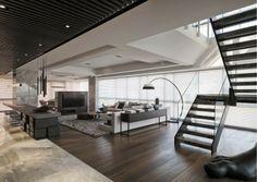 Contemporary Interior, Contemporary Architecture, Interior Architecture, Home Living Room, Living Room Designs, Inside Home, Loft, Living Room Inspiration, Home Interior Design