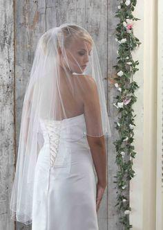 Fingertip Veils : Linzi Jay Bridal Wedding Veil LA908