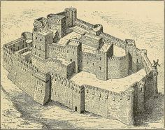 """1271-72.Ninth Crusade.Crac des Chevaliers and Qal'at Salah El-Din (Syrian Arab Republic) Image from page 124 of """"A history of mediaeval and modern Europe for secondary schools"""" (1914)"""