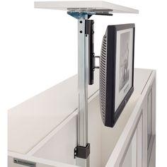 MonLines Monitorhalter Medio - T - monitorhalterung. Diy Office Desk, Hidden Tv, Tv Furniture, Home Gadgets, Under Stairs, Tv Cabinets, Smart Home, Industrial Style, Planer