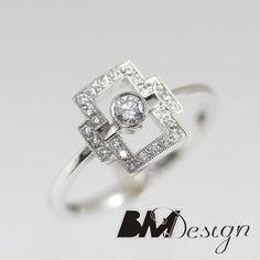 Pierścionek zaręczynowy z diamentami  Rzeszów  Pierścionek zaręczynowy Rzeszów BM Design BM RzeszówBM Rzeszów