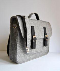 15 laptop bag Felt briefcase MacBook satchel case felt with color clasp and  grip 2d1ac68fc7233