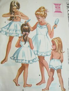 Little girls wore these under their school dresses. Mom adjusted the straps so 'your slip won't show'.