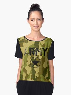 11ef0874a7a961 Vintage US Army Camouflage T-shirt Women s. Your choice is street style.  Your